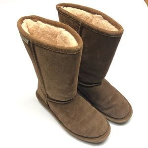 BearPaw Boots Tall Brown Youth
